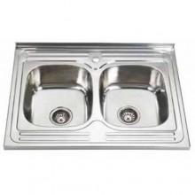 Кухонная двойная мойка из нержавеющей стали
